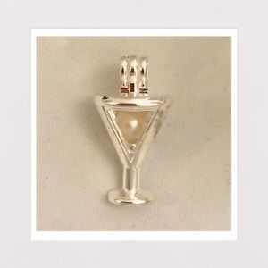 Jewelry - Genuine Cream Freshwater Pearl in Martini Cage